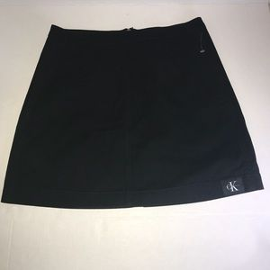Black Mini Skirt Calvin Klein Jeans Sz 28 BNWT